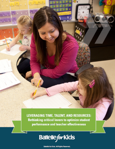 Leveraging Time, Talent, and Resources: Rethinking critical levers to optimize student performance and teacher effectiveness    Battelle for Kids White Paper