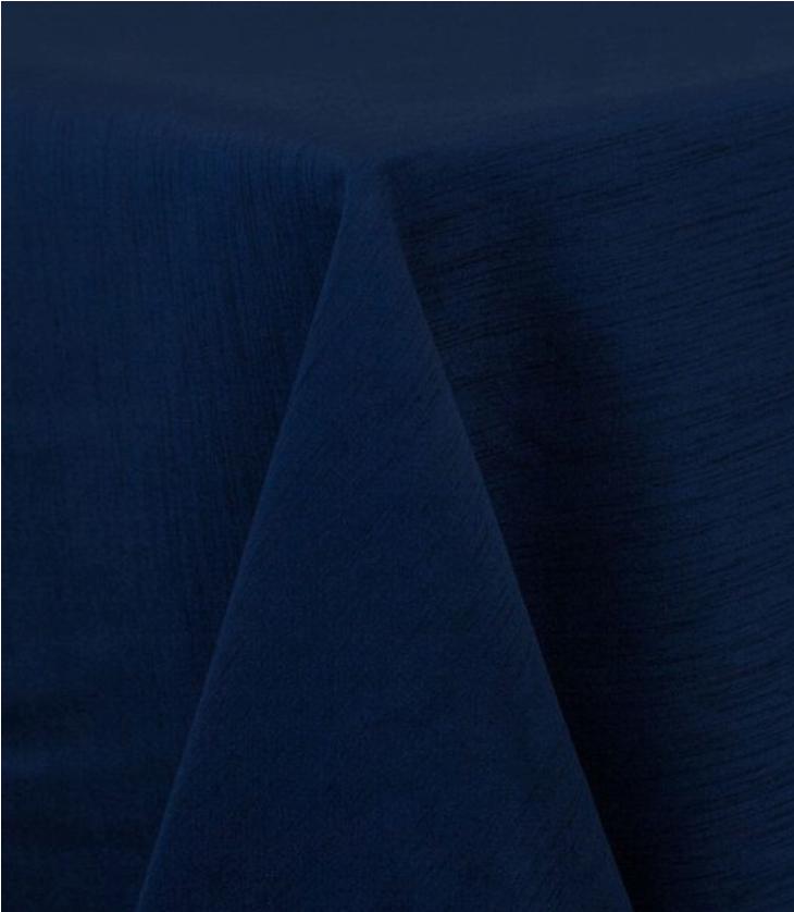 Navy Raw Silk