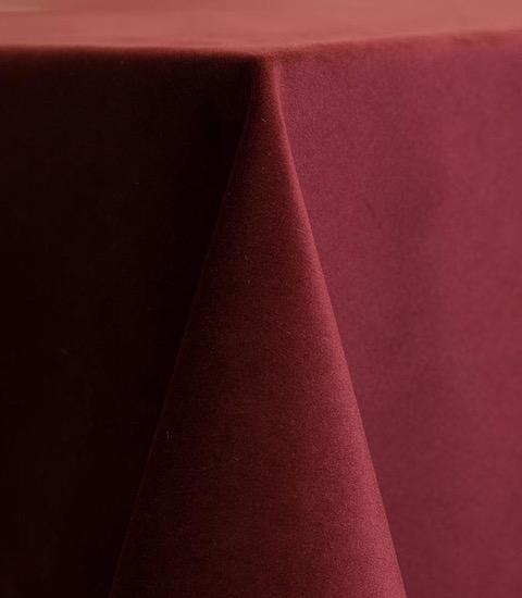 Merlot Velvet Tablecloth