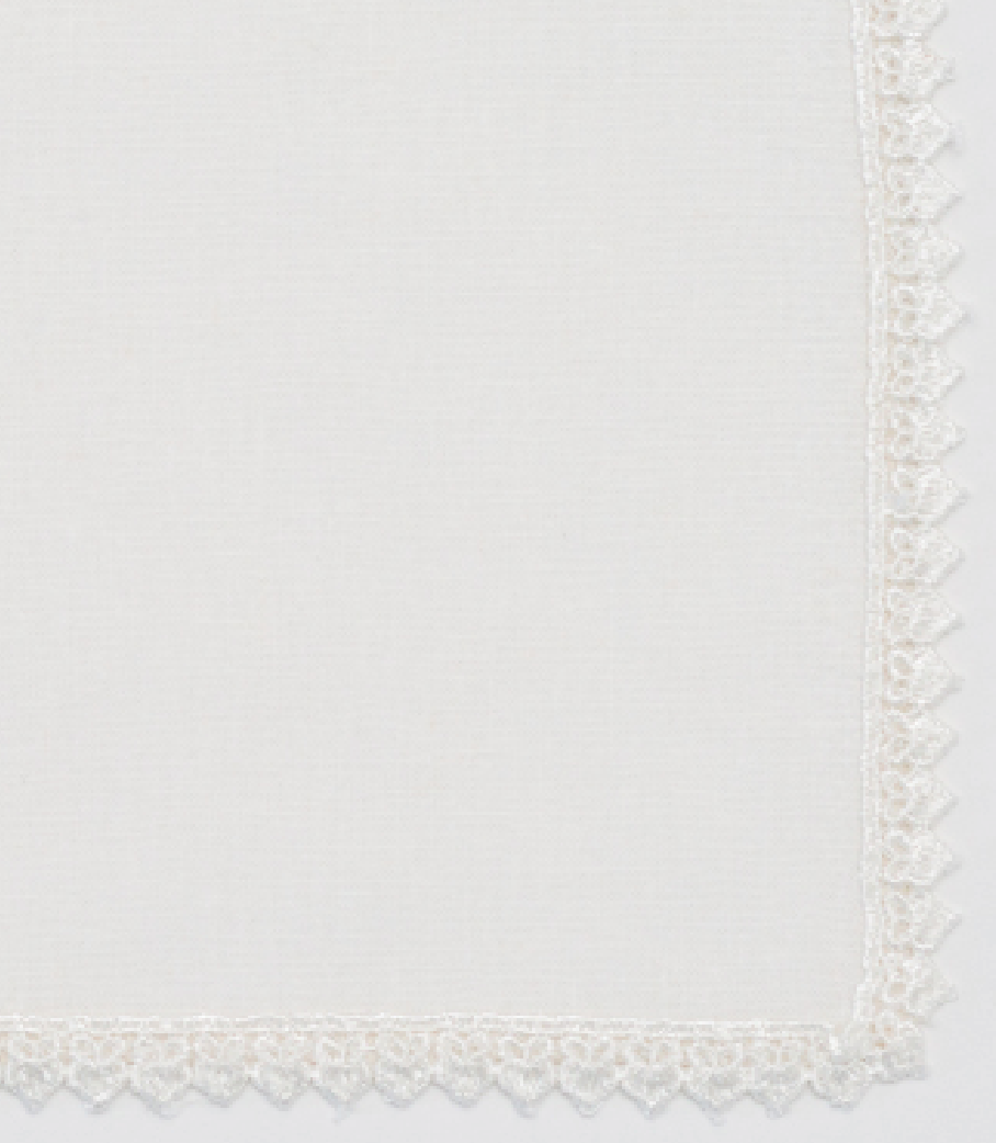 Ivory Lace Trim Napkin