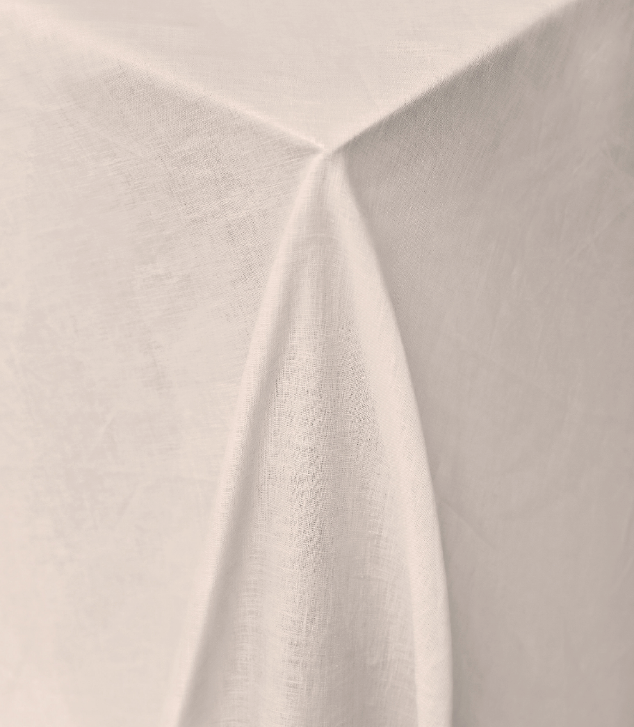 Nude Grey Pure Linen Tablecloth