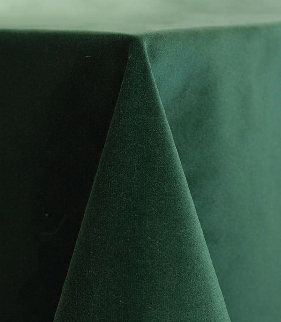 Hunter Velvet Tablecloth