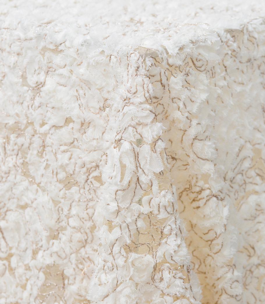 Ivory Patina Sheer Overlay