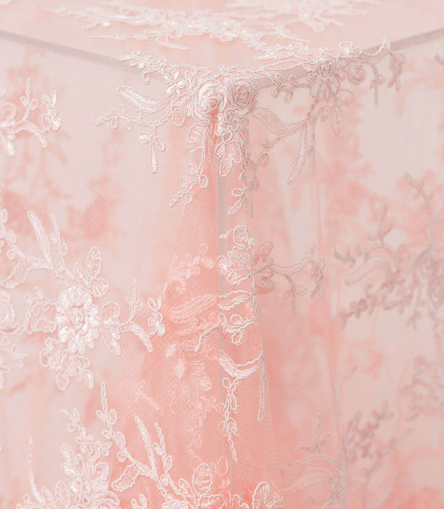 Blush Blossom Lace Overlay