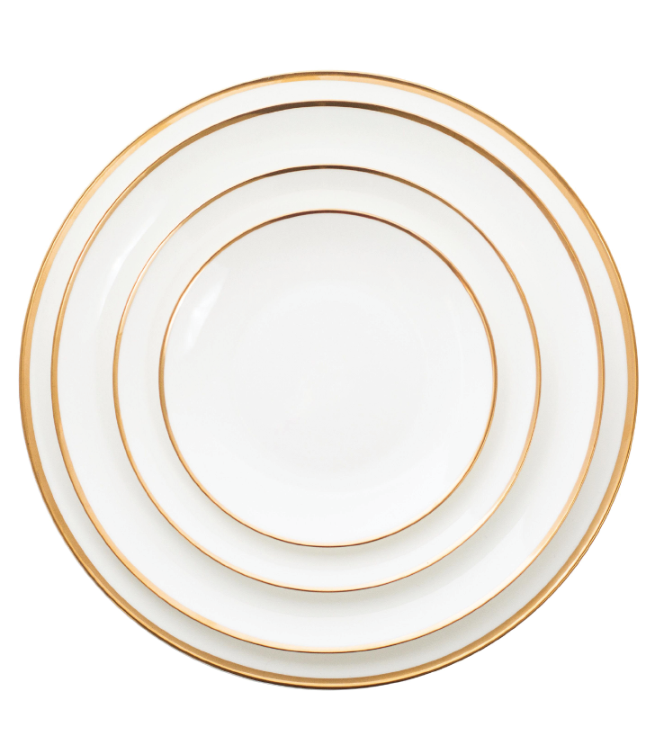 Manhattan Gold Rim Plate Collection