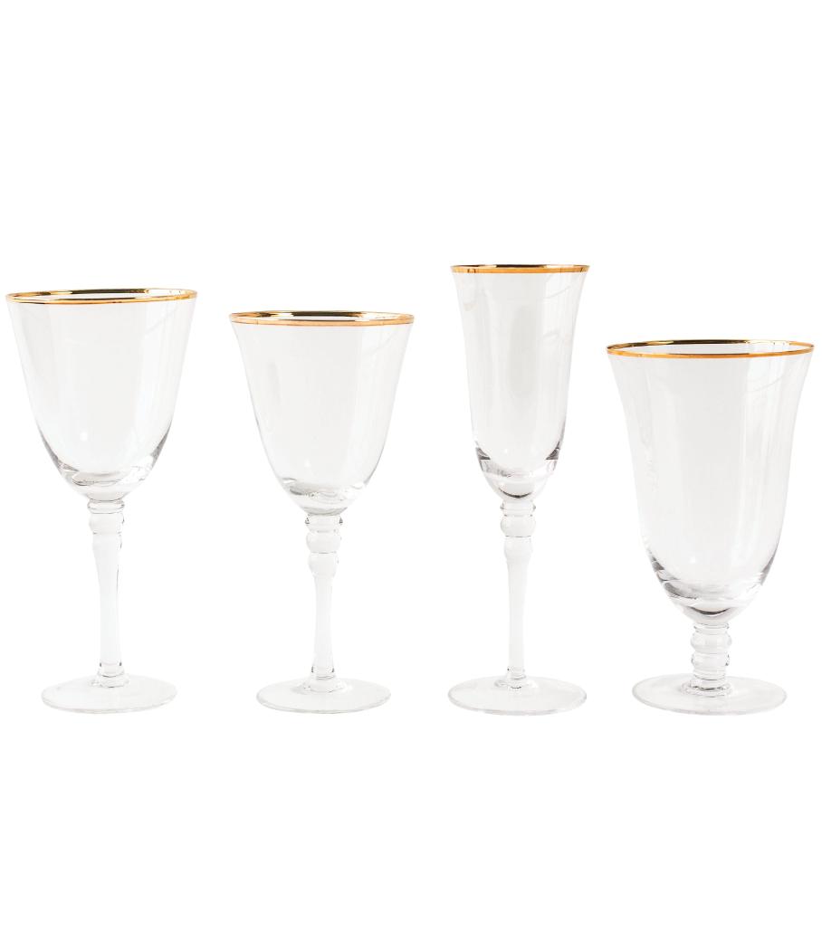 Grace Gold Rim Glassware