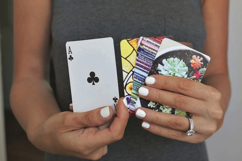 2. DIY Photo Playing Cards - We absolutely love this customizable DIY idea! Add your photography to a regular deck of playing cards for a usable gift that's unexpected. A Beautiful Mess put this really easy-to-do DIY together, check it out here and impress your friends with your arts and crafts skills.Photo: A Beautiful Mess