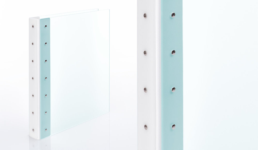 frosted glass green acrylic