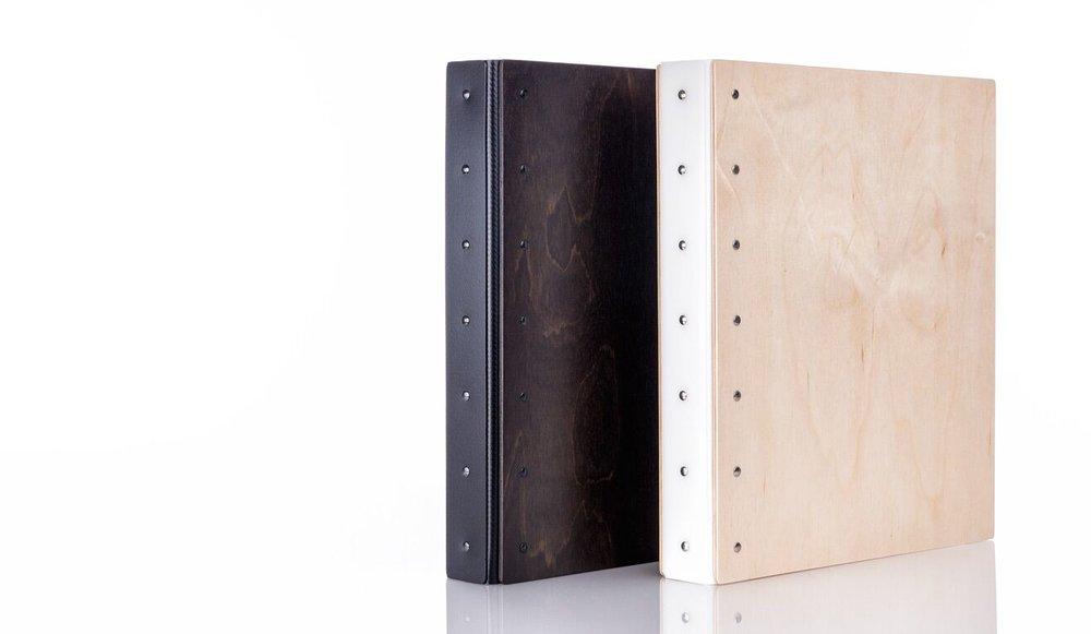 dark (L) and light (R) wood