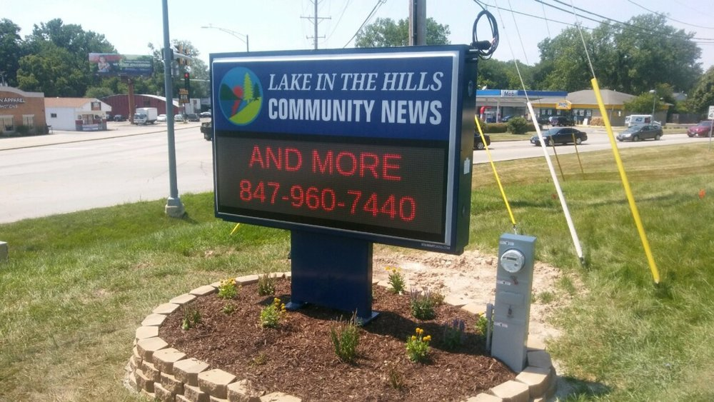 Lake in the Hills - Message Center Sign