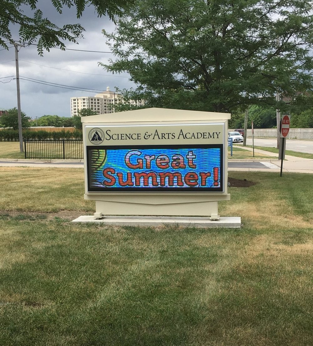 Science & Arts Academy - Full Color Message Center Sign