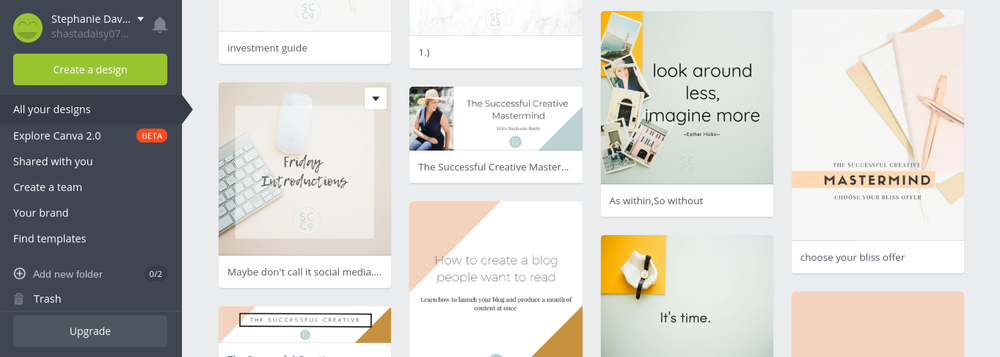Canva design gallery for Madison, WI business coach