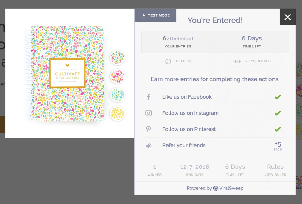 Enter to win a FREE Powersheets planner with The Successful Creative