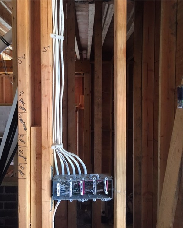 We take a lot of pride in the work that we do and believe that our workmanship is a reflection of our character and product. Even when we wire new construction, which requires a ton of work, we always make sure all our lines are run neatly. #newconstruction #newhomeconstruction #electrical #electric #electrician #wiring #wiringspecialists #construction #newjersey #nj #bergencounty #closter