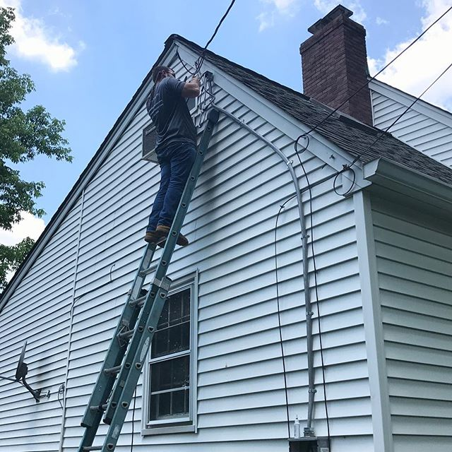 Hope everyone enjoyed their 4th of July! We are back at it, wiring up new central AC and a service upgrade for a client. Always fun playing with some live wire! #electric  #electrical #electrician #AC #airconditioning #serviceupgrade #wire #livewire #bergencounty #newjersey #nj