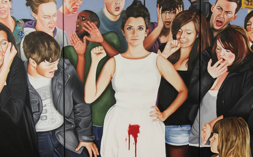 """Menstruate with Pride""by artist Sarah Maple |  sarahmaple.com"