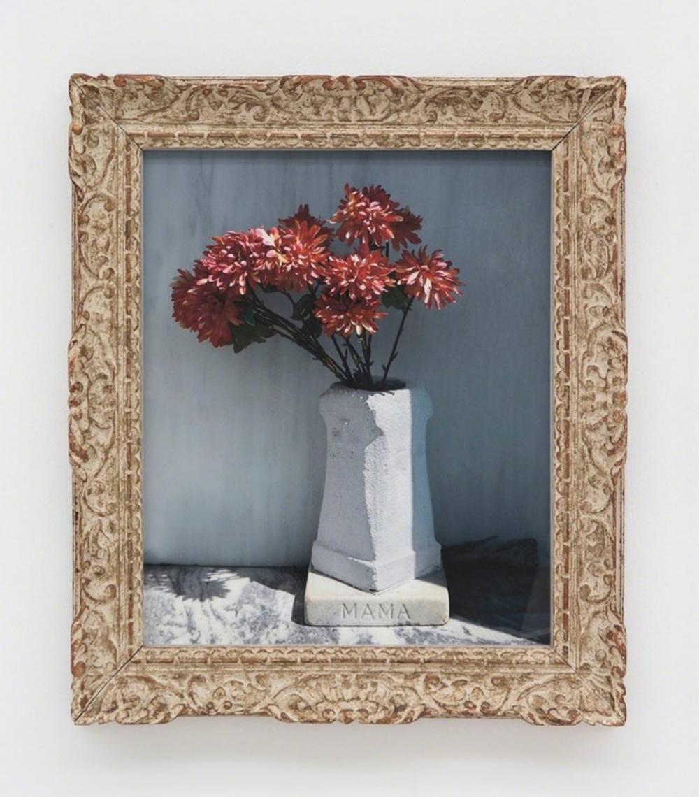 Sophie Calle,  Mama (dans le vase) n°3 , 2012. Digital print on Hahnemühle Fine Art Rag paper, found frame