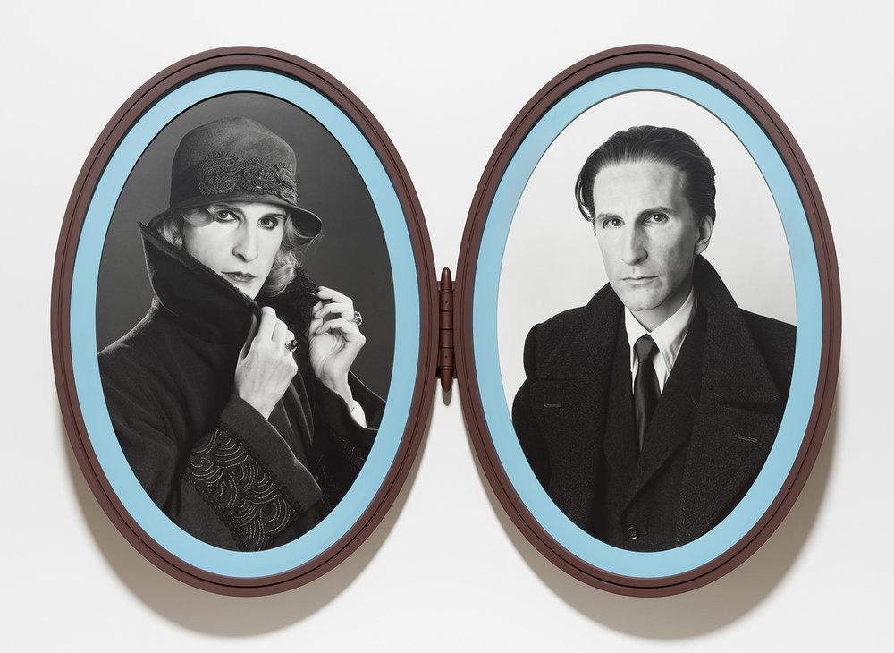 Gillian Wearing , Me as Madame and Monsieur Duchamp  framed bromide prints 94 x 61 cm (each) 2018