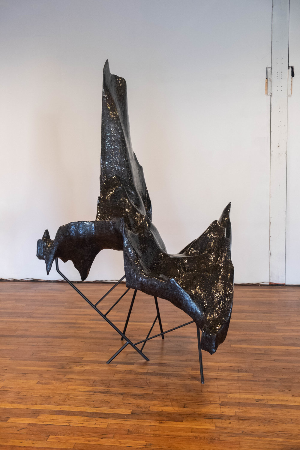 Installation of: Greg Pond,  Intensive Extension  (2018) in  Melt My Heart But Spare My Soul . Image by Sarah-Anne Wagoner. Courtesy of Stove Works.
