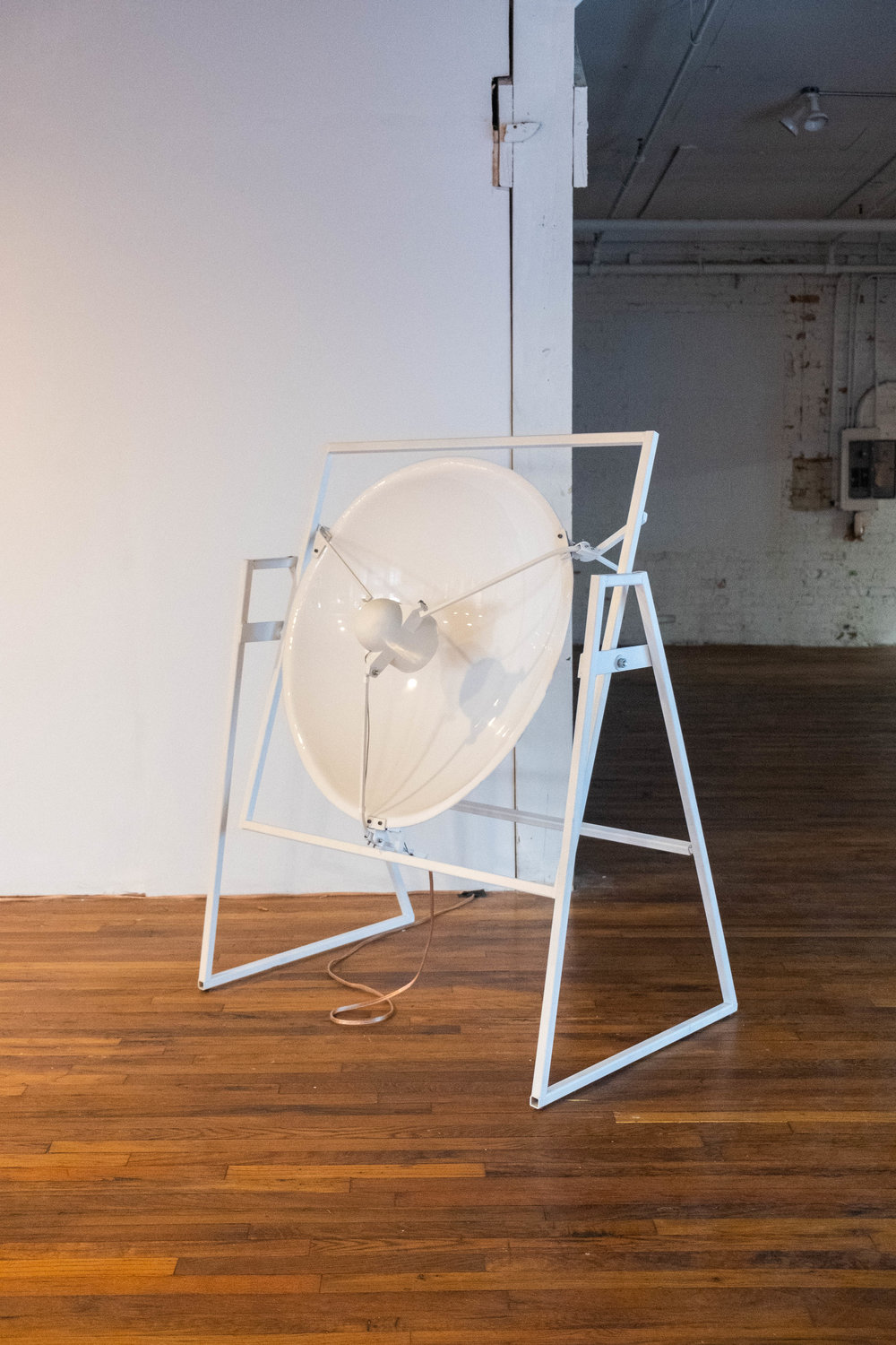 Installation detail of  guncotton  (2018), mixed media sound installation. Image by Sarah-Anne Wagoner. Courtesy of Stove Works.