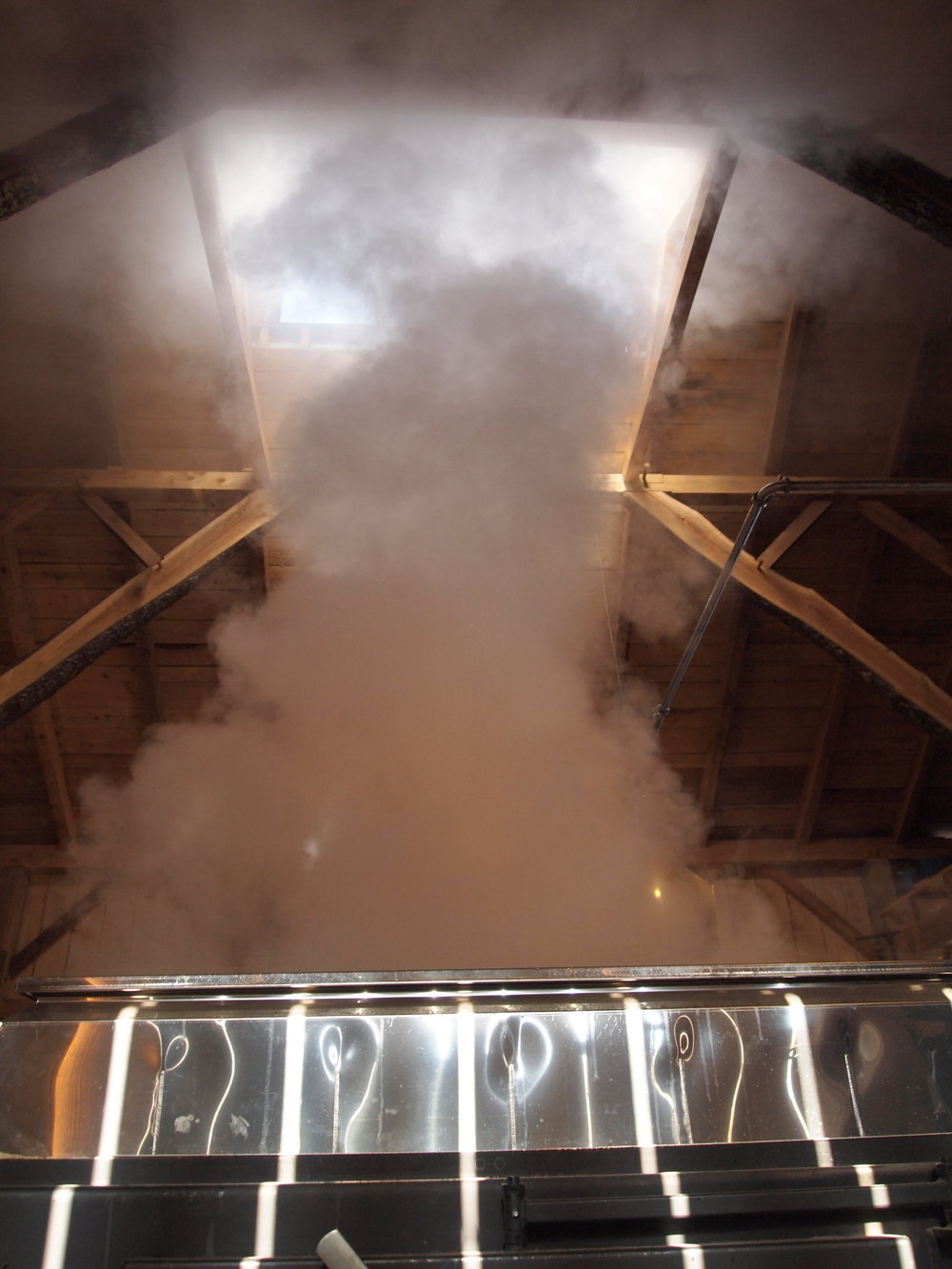 STEAM FROM THE EVAPORATOR
