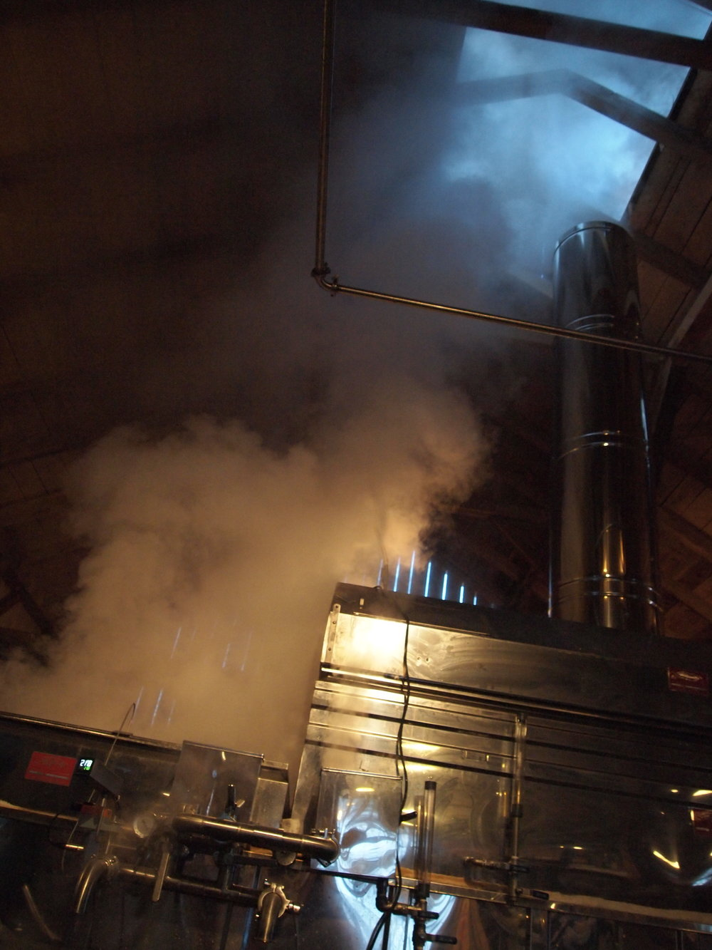 STEAM LEAVING THROUGH THE CUPOLA