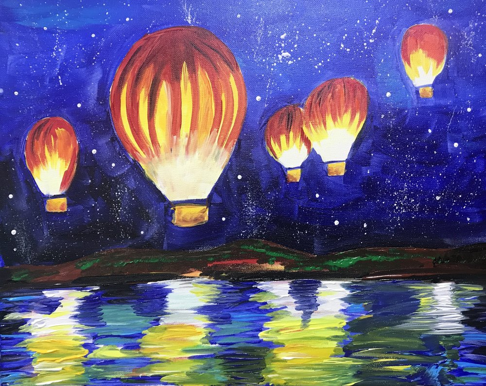 Balloons Above the Water