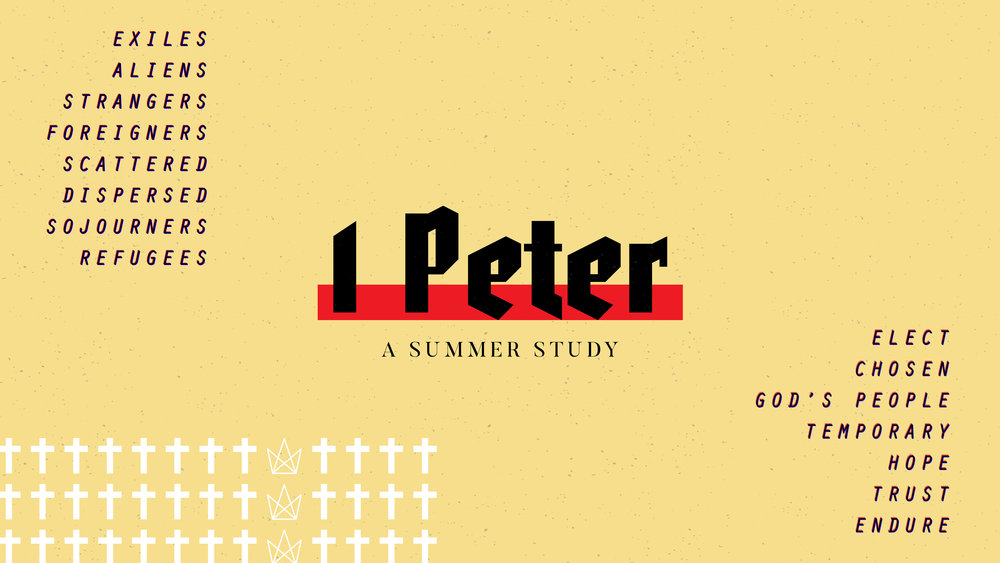 Summer 2018 - Over the course of the summer we will be going through the book of 1 Peter verse by verse. This book's purpose was to encourage suffering Christians and to call them to personal holiness.