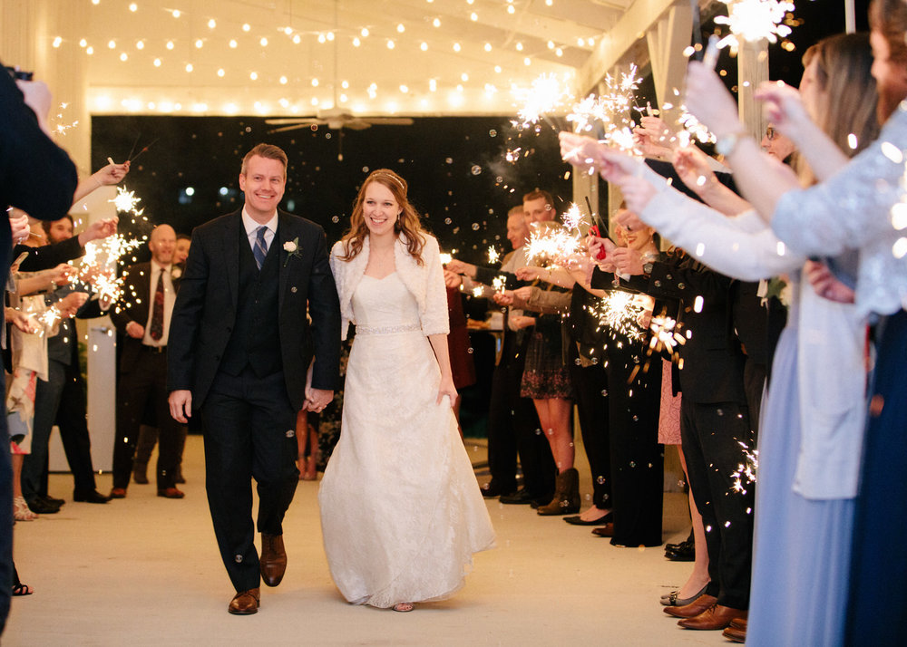 sparklers for bridal exit