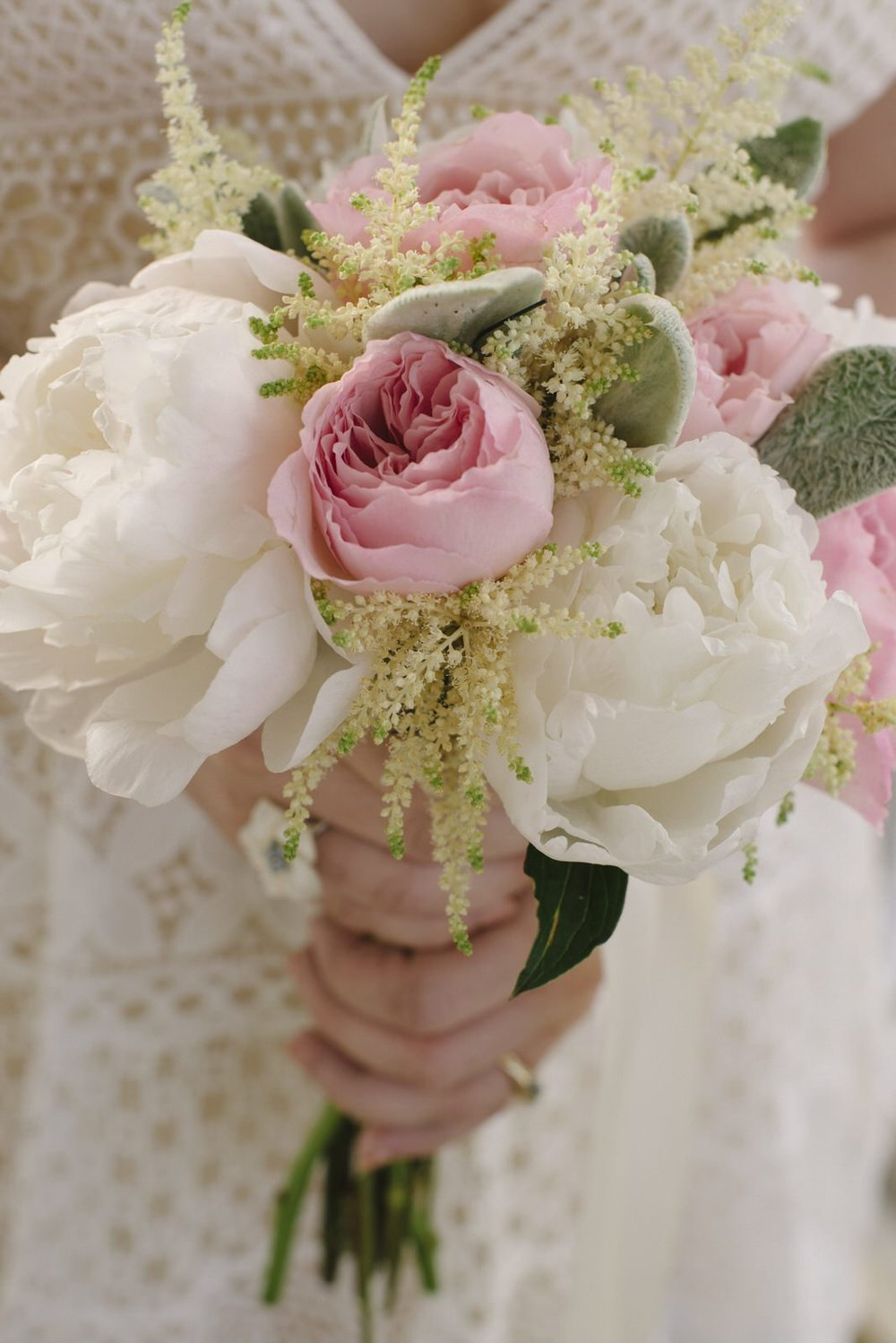 a bride's beautiful wedding bouquet