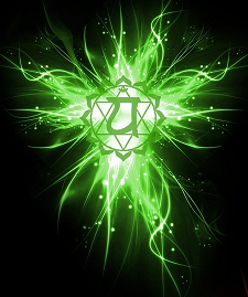 """Symbolised  as a lotus with twelve petals.   Color:  Green   Sound:  YAM (pronounced Yaam)   Element:  Air   Gland/System:  Thymus / Heart, Cardiac Plexus, Lungs,  Breast, Lymphatic,Circulatory & Immune System   The associated animals  are the Dove, Antelope &Hummingbird   Represents:  Love,Relationships   When Balanced: Unconditional Love  Considered to be the petal lotus of   """"Essential Nature"""""""