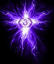 Symbolised  as a lotus with two petals   Color:  Indigo  (most prominent) , Violet, Deep Blue,Bluish White.   Mantra Sound :KSHAAM (pronounced as Kshaam)   Element : Fire   Gland/System : Pineal, Pituitary / Head, Eyes, Ear,and Nervous System.   The associated animals  are the Cat, Raven, Hawk & Eagle   Represents :Intuition and Wisdom   When Balanced :Calm and Focused  Third Eye Chakra's images and visions can be subtle and hard to describe. These inner visions may appear blurry, dream-like or be as clear as a movie playing in front of your eyes.