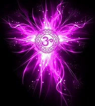 """Symbolised  as a a lotus with one thousand multi-coloured petals   Color :Violet  (most prominent) Multicolored - Lilac, White and Gold    Sound : OM (pronounced OM)   Elemen t:   Gland/System :Pineal/ Hypothalamus, Brain  (Some say it is not an Organ as it is ascended)    The associated animals  are Owls, Butterflies and Enlightened Being   Represents : Spirituality   When Balanced : Unity Consciousness  Considered to be the petal lotus of   """"Great Bliss"""""""