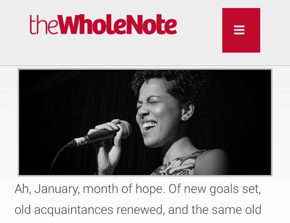 Behold a little January online-only instalment of my WholeNote column, in which I write about exciting upcoming Toronto-area gigs, including @itsjoannamajoko and @matworo at @rexhoteltoronto, @ladommusic and @vc2celloduo at @lulalounge, and Piano Fest at @burdockbrewery. Also contained in this column: shameless self-promotion, a @banffcentre shoutout, and an invitation to berate me via social media and email. Anyways you can read it all at thewholenote.com or you can just put your glasses on and swipe through this post. Happy Saturday.