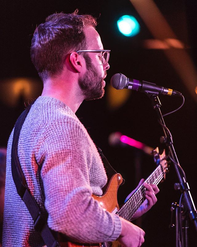 Playing and singing a fresh tune at The Club at @banffcentre back in January. Not pictured: @foejallon (thanks Joe!). Picture by Donald Lee. #banffcentre #theclub #banffmusic #bmir #iwillnevertakeoffthissweater #prsguitars