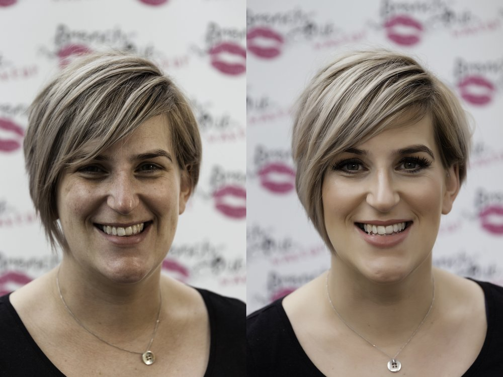 Professional photoshoot makeup - before & after