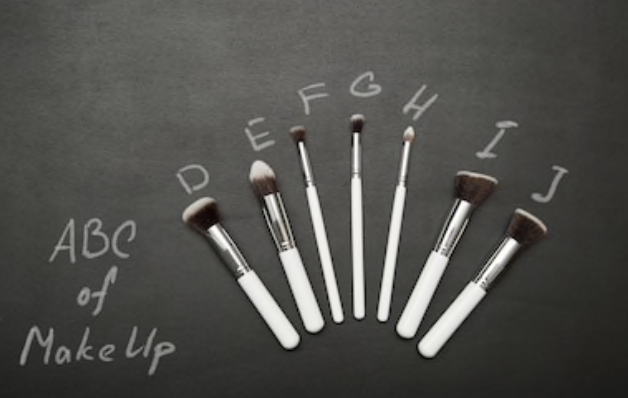 Makeup brushes used for a makeup lesson in Shropshire