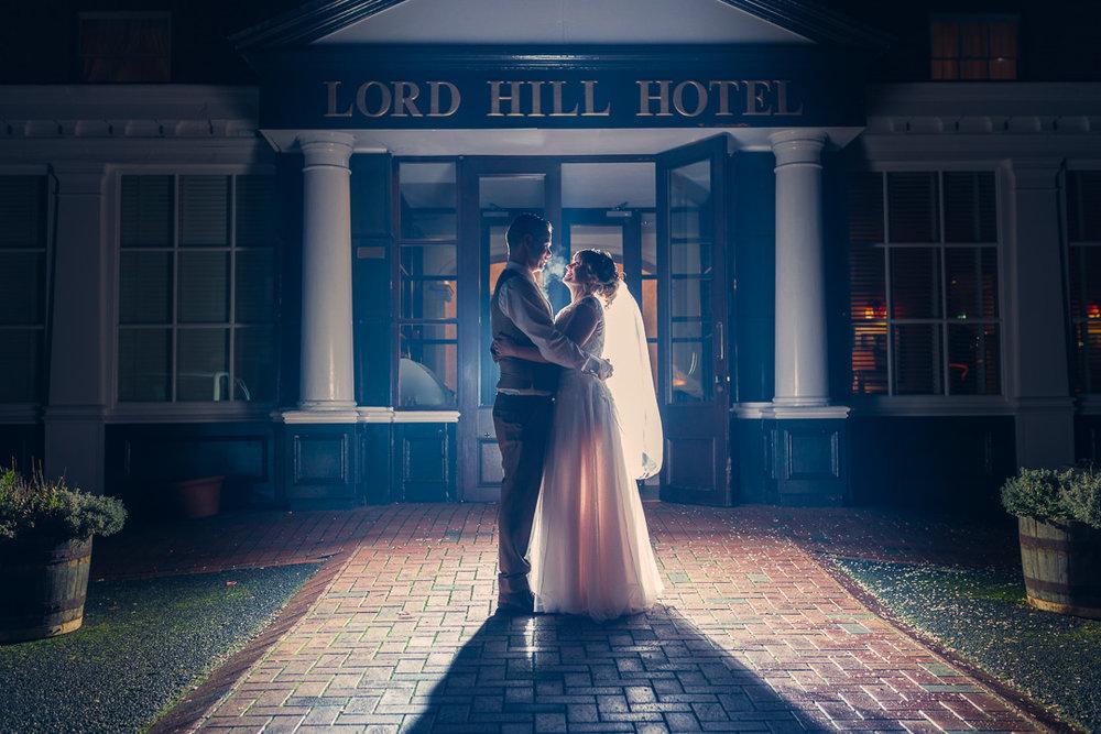 Shropshire Bride & Groom portrait on their Wedding Day at Lord Hill Hotel, Shrewsbury