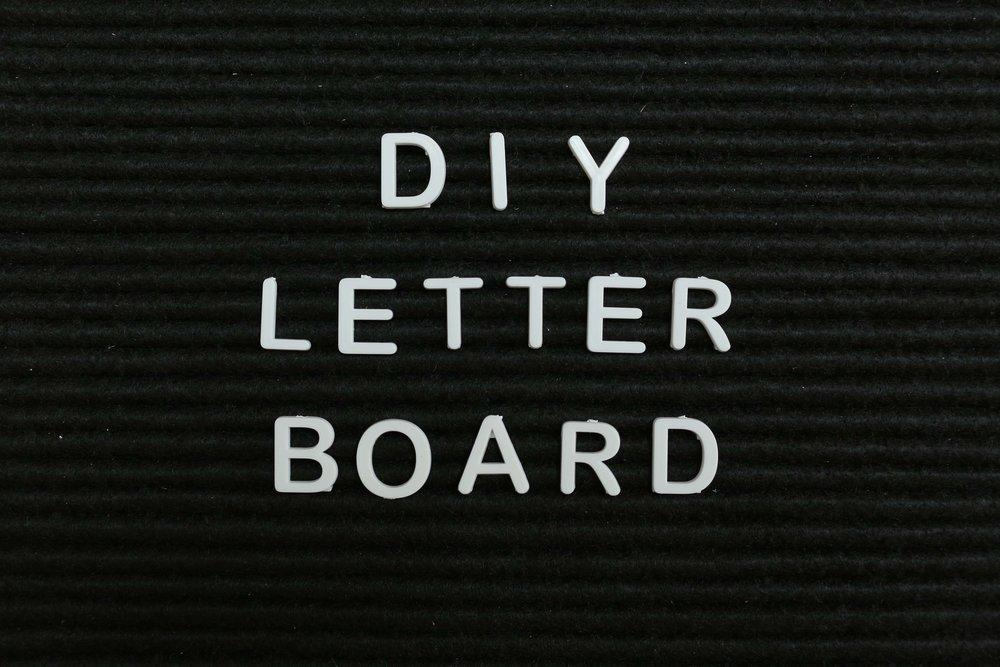 DIY FELT LETTER BOARD — The Sorry Girls