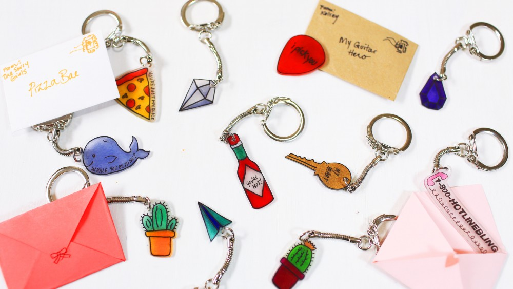 Diy Valentine S Day Keychains The Sorry Girls
