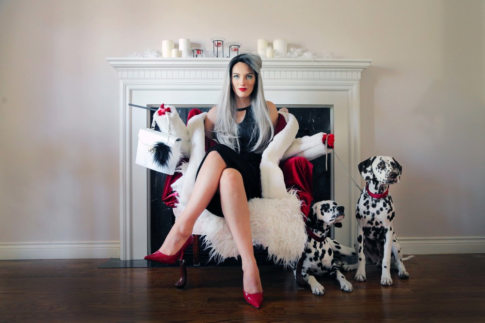 cruella de vil costume tutorial the sorry girls. Black Bedroom Furniture Sets. Home Design Ideas