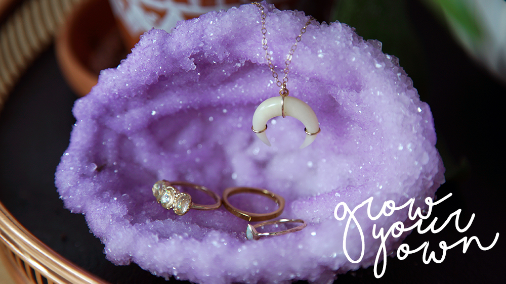grow diy crystallized geode in just hours the sorry girls