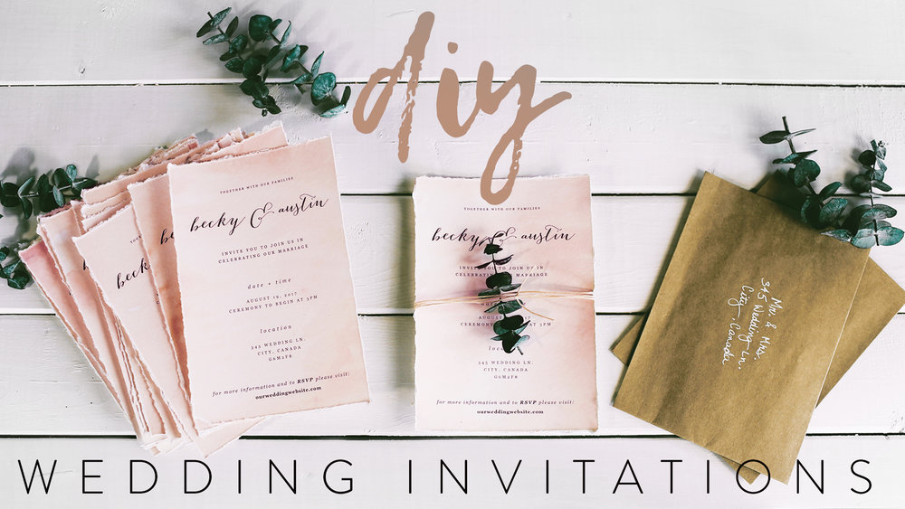 DIY MY WEDDING INVITATIONS WITH ME — The Sorry Girls