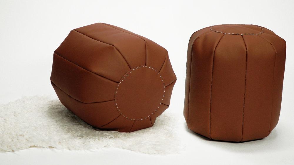 Groovy Diy Modern Floor Pouf The Sorry Girls Short Links Chair Design For Home Short Linksinfo