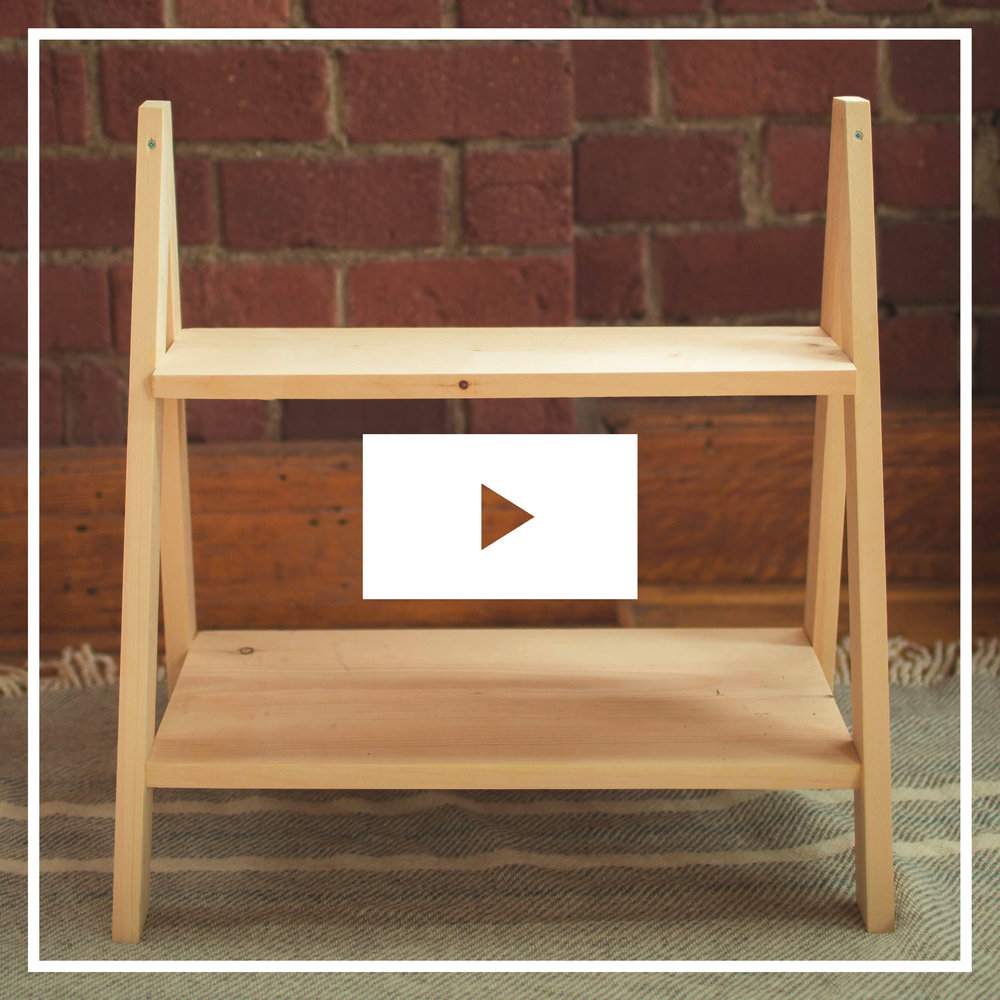 STEP LADDER SIDE TABLE FULL TUTORIAL