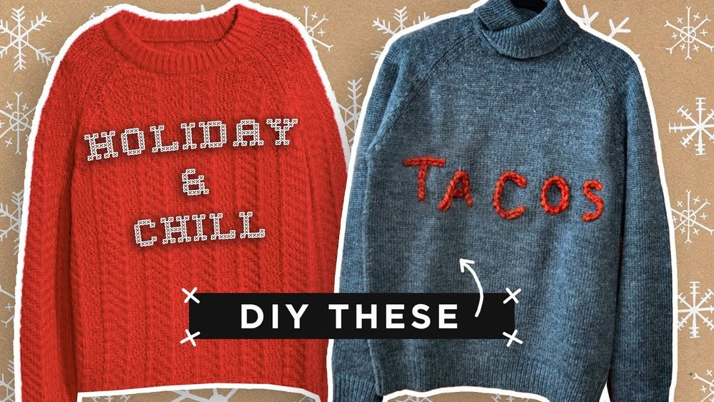 Super Easy Custom Holiday Sweaters The Sorry Girls
