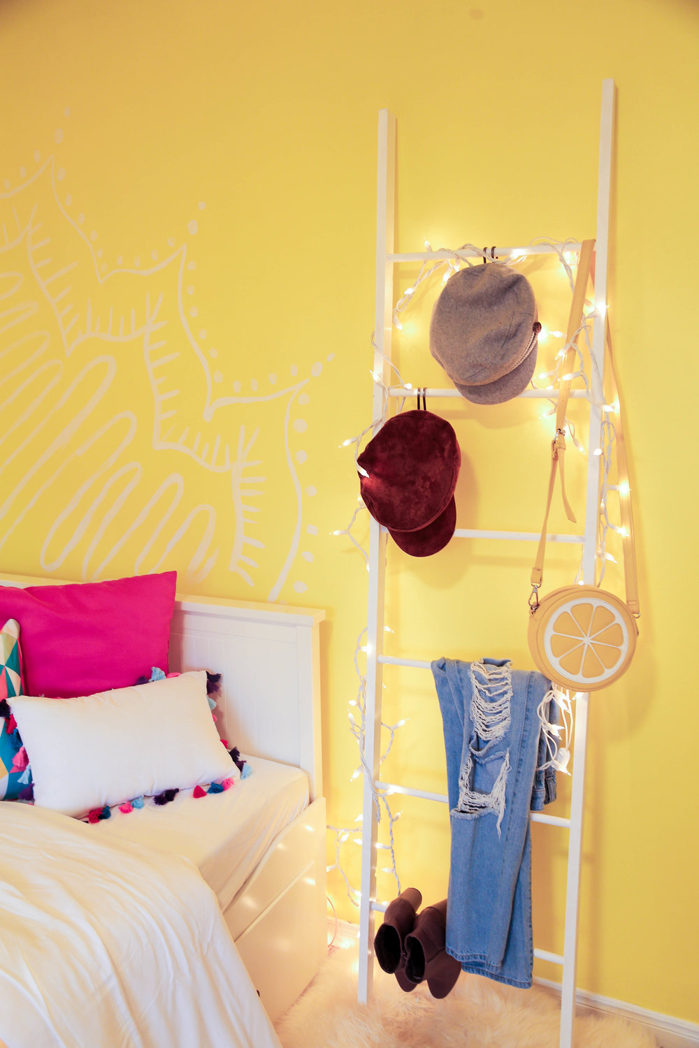 A Yellow Bedroom Makeover Ft Adelaine Morin The Sorry Girls