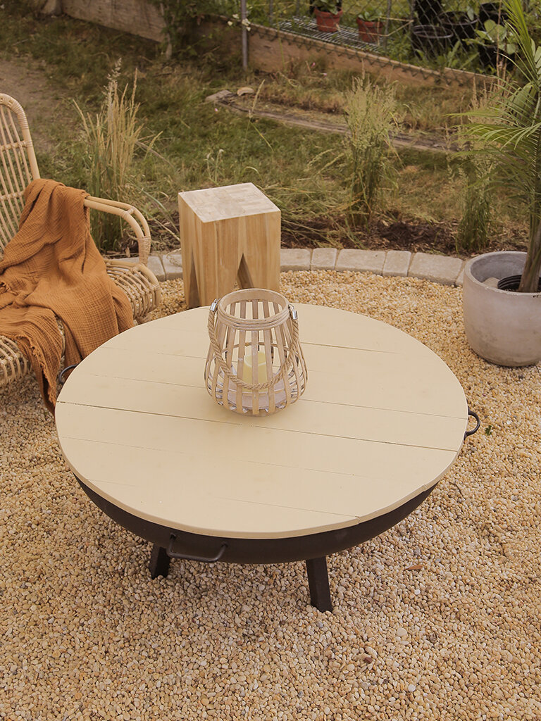 Easy Backyard Fire Pit Table Top DIY — The Sorry Girls
