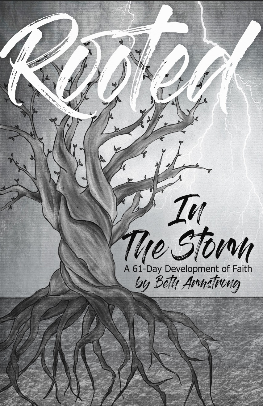 "Now Available! - Rooted in the Storm is a 61-day devotional of faith which shares excerpts from an ongoing 300+ day critical care hospitalization of Beth's husband, Chris. Each day includes a devotion that was written during this time as God was growing Beth's faith. This devotional book was written to help you find peace and encouragement in any storm you may face. The daily devotions are a part of Beth's journey in learning the peace that comes from being rooted in Christ regardless of the circumstances.Learning to root yourself each day will change how you experience God in this season. It is only in Him that you will find all you need. If your storm has left you struggling with sleepless nights and a broken heart, this devotional book was written with you in mind. Through this difficult experience, Beth learned to grow her roots deeper into God and begin each day worshiping Him. Her prayer is that this devotional book will help encourage and equip you during your season of storms so that your life will bear great fruit.""I am the vine; you are the branches. If you remain in me and I in you, you will bear much fruit; apart from me you can do nothing.""-John 15:5"