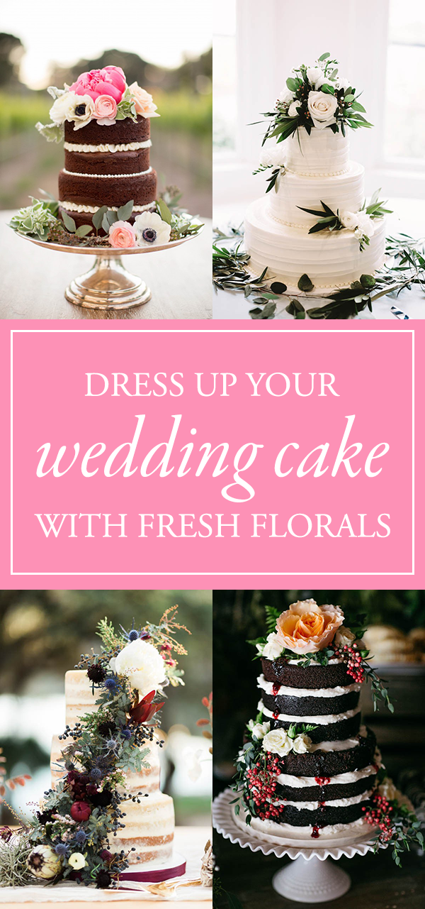36 Ideas for Dressing Up Your Wedding Cake with Fresh Florals  - by Nicole